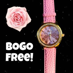 Accessories - 😳BOGO FREE! NEW PINK OR GREEN RHINESTONE WATCHES